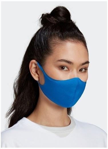 adidas Adidas Unisex Mavi Koruyucu Yüz Maskesi Mavi